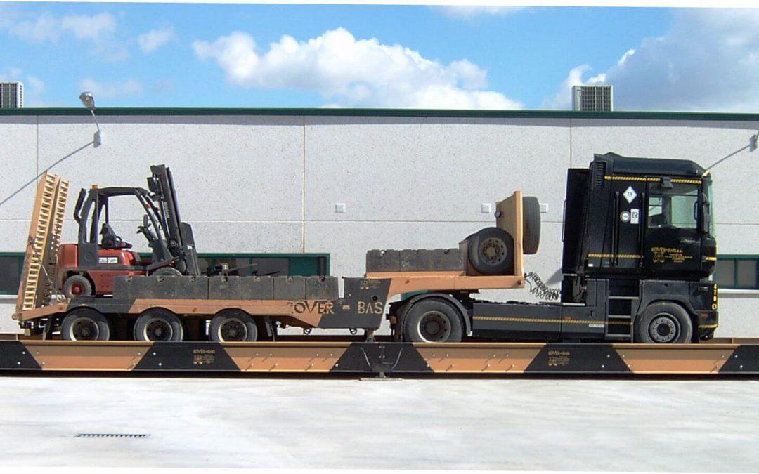 Básculas puente para pesaje de camiones.