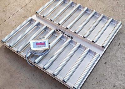 Bascula-plataforma-RV-2000PL-Sobresuelo-Inox-Pesaje-Palets-Rodillos