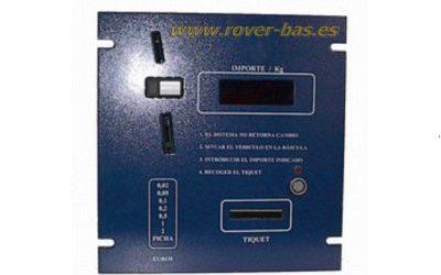 Visor para báscula-puente con monedero, fichas y/o llaves button