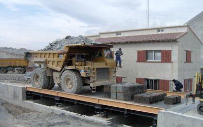 Báscula-puente sobresuelo especial para canteras